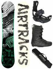 Set de Snowboard AIRTRACKS Steezy Rocker+Fixation Master+Bottes + Sac 145 150