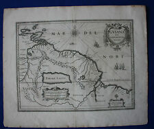 Antique atlas map SOUTH AMERICA, GUYANA, EL DORADO, Jansson, Janssonius, c.1645
