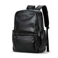 Men's Genuine Leather Backpack Laptop High Quality Casual Travel School Bag