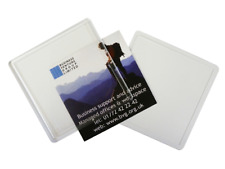 Square Clear Photo Coasters - N1 made in the UK - 90x90mm inserts
