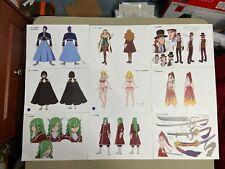 Fairy Tail Settei Sheets Free Shipping (Very Rare Set)!
