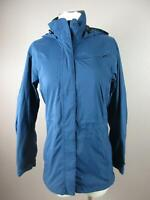 REI Size XS Womens Blue Full Zip Hooded Front Pockets Softshell Rain Jacket 462