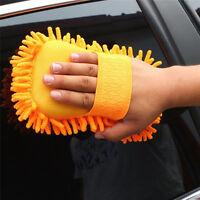 Auto Microfaser Chenille Fahrzeugpflege Waschbürste Schwamm Reinigung Reini L3S6