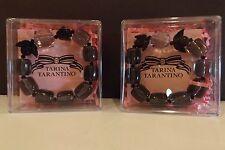 TARINA TARANTINO BLACK BEAD BRACELET MADE WITH SWAROVSKI LOT OF 2