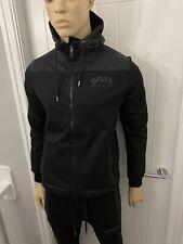 Hugo Boss Black/grey Tracksuit Zipped Hoodie& Pant Mens Medium £288 Bargain £119