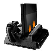 Vertical Stand Charging Station w Cooling Fan for PS4/PS4 Pro Gaming Consoles