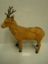 Antique Christmas German Putz Reindeer Stick Leg
