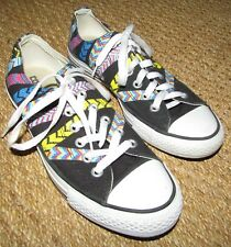Converse Chuck Taylor All Star Friendship Bracelet Low Sneaker Black Ladies 8
