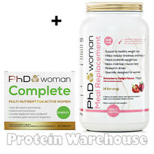 PhD Woman Meal Replacement 770g Weight Loss Shake + Complete Multivitamin 60 Tab