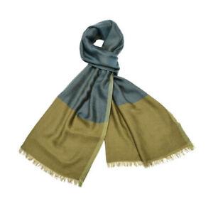 "Loro Piana ""Manhattanhenge"" Colorblock Cashmere/Silk, Green/blue  $895"
