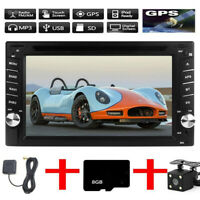 "6.2"" Doppel 2DIN Autoradio MIT Navigation GPS Navi Bluetooth USB MP3 DVD 8GB TF"