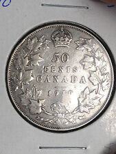 1910 CANADA 50 CENTS HALF DOLLAR GREAT DETAILS, STAMPED!