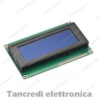 Display LCD BLU 20 x 4 2004 retroilluminato (Arduino-compatibile) hd44780