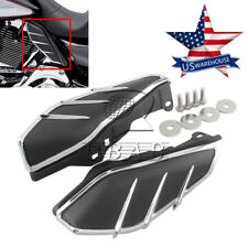 US ABS Flame Engine Air Deflectors Heat Shield Trim for Harley Street Glide 09up