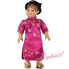 Fuchsia Mandarin Dress Fit American Girl 18 Inch Dolls Asian Chinese