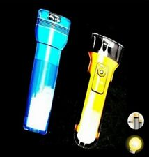 1 LAMPE TORCHE 2 LEDS EXTRA PLATE AIMANTEE 12.5 CM BRICOLAGE