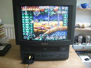 Sony KV-14V6U Trinitron Colour Video TV VCR w Remote Retro Gaming VHS CRT TESTED