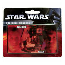"""STAR WARS - QUOTABLE MAGNETS - """"I LOVE YOU - I KNOW"""" - NEW NEUF NEU"""