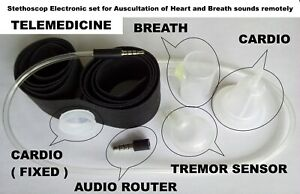 Stethoscope set for Auscultation of Heart and Breath sounds remotely