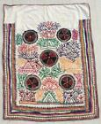 """54"""" x 41"""" Vintage Rabari Throw Embroidery Ethnic Tapestry Tribal Wall Hanging"""