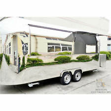 """19' Mobile Food Cart Trailer - """"Made to Order"""" Stainless Steel Custom Food Truck"""