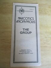 Narcotics Anonymous IP #2 The Group 1976 1st Edition Orig & Authentic Ex Cond