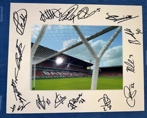 Barnsley FC Hand Signed 2021/22 10x8 Photo Mount Display COA By 15 D