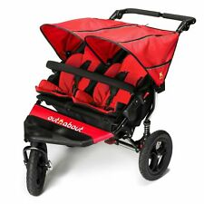 Out N About Nipper V4 Double Buggy Pushchair - Baby to 4 Years - Carnival Red