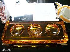 Rosenthal Versace Medusa Prisma Amber Schreibtischablage Desk Tray *NEU & OVP*