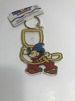 Vintage Mickey & Friends Mouse Photo Key Chain Ring Cowboy NEW NWT