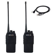 2pcs Retevis RT1 Walkie Talkie Funkgeräte 10W VHF 136-174MHz 16CH 3000mAh + USB
