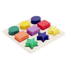 Baby Kids Montessori Early Educational Learning Toy Geometry Block Puz CGO