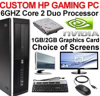 HP GAMING PC 6GHZ DESKTOP 1TB 8GB COMPUTER TOWER WINDOWS 10 NEW GFX CHEAP HDMI
