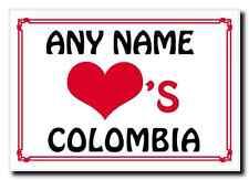 Love Heart Colombia Personalised Jumbo Magnet
