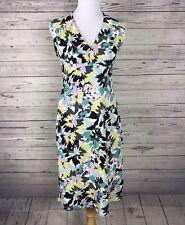 Axcess Liz Claiborne Women's Pastel Floral Sleeveless V-Neck Dress Size Small