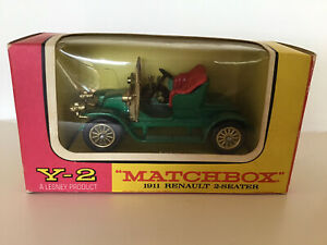 Y-2 Matchbox Models of Yesteryear 1911 Renault 2-seater, MINT Lesney w/Box
