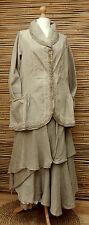 Lagenlook * KEKOO * beautiful amazing excentrique 2 poches veste * dusty beige * taille 42-44