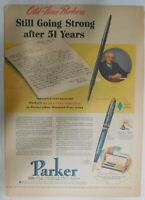 Parker Pens and Pencils Ad: Parker Blue Diamond Pen 1940 Size: 11 x 15 inches