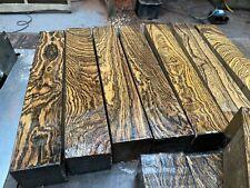 """Bocote Spindle Blank/woodturning Blank/exotic Woods 2x2x12"""" exotic hardwood"""
