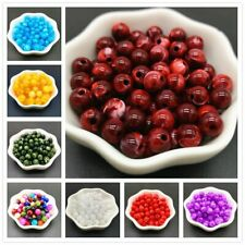 6 8 10 mm Imitation Natural Stone Round Acrylic Beads Clouds Effect Beads