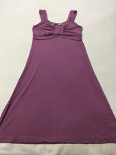 Athleta MT M Medium Tall Purple Calypso Ruched Bodice Dress Soft Stretch