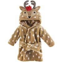 Hudson Baby Plush Bathrobe, Girl Reindeer, 0-9 Months