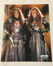 Star Trek The Next Generation Lursa and B'Etor 8 x 10 Signed Photo Autograph