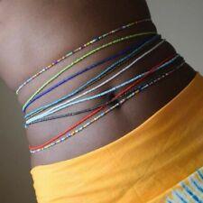 New listing 10pcs Set Simple Single Layer Handmade Body Chain Beads Elastic Waist Chain