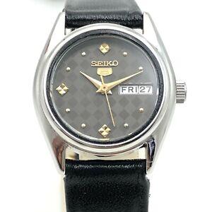 Women's Seiko 5 2906-0850 D/D 24mm Automatic Japan Wrist Watch B1839