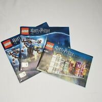 Lot of 3 Lego Harry Potter Manuals Instruction Booklets Book Only 40289 75953