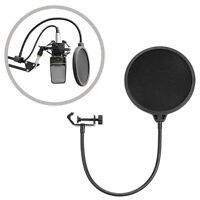New Black Round 6'' Studio Microphone Mic Wind Screen Pop Filter Mask Shield
