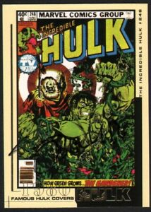 Bernie Wrightson SIGNED Incredible Hulk Famous Comic Covers Upper Deck Art Card