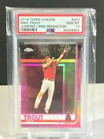 Mike Trout PSA 10 2019 Topps Chrome Pink Refractor Baseball Card #200 Gem Mint