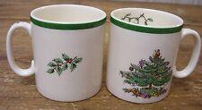 Spode Christmas Tree 2 Coffee Mug Cup England S3324